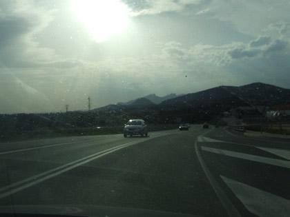 Paisagem no caminho para Montserrat