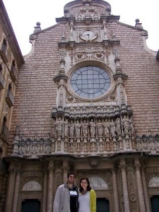 Eu e Fred na entrada da Basílica