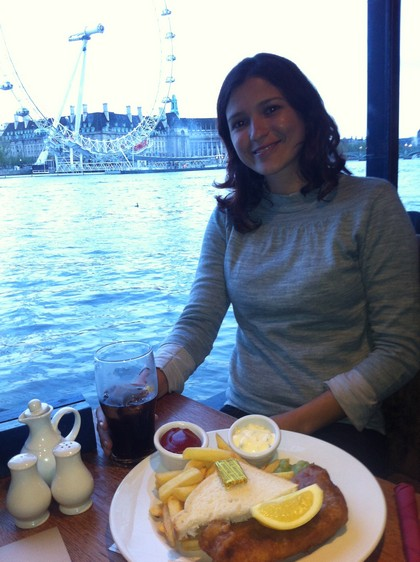 Fish and Chips no The Tattershall Castle