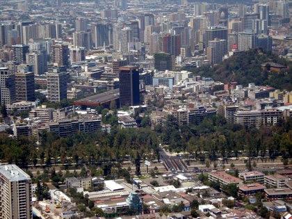 Santiago vista do alto do Cérro Sán Cristóbal