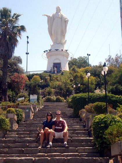 Imagem da Imaculada Conceição em Cérro San Cristóbal