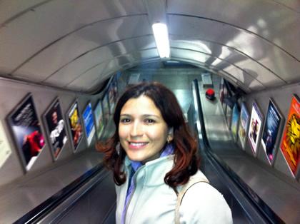 Na estação do Underground