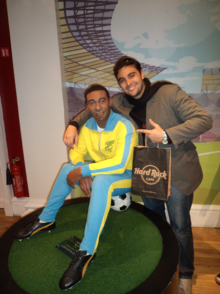 Fred e o rei Pelé