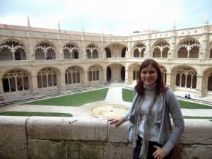 No Claustro do Mosteiro