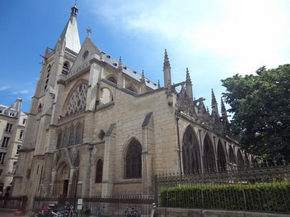 IIgreja gótica flamboyant St-Séverin no Quartier Latin