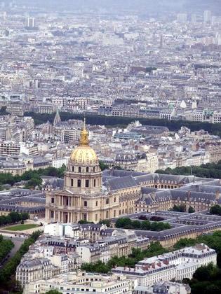 Hôtel des Invalides, do alto da Montparnasse