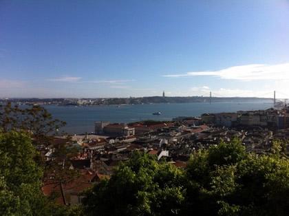 Vista do Rio Tejo do Miradouro do Castelo de São Jorge