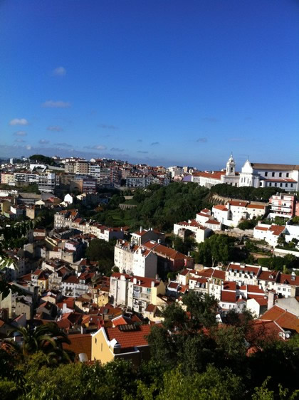 Vista do alto do Castelo