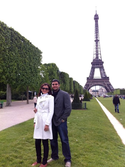 Champ de Mars e a Torre Eiffel