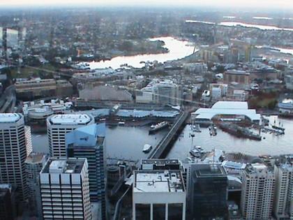 Vista da cidade na Sydney Tower