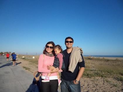 Com Laia, em Castelldefels
