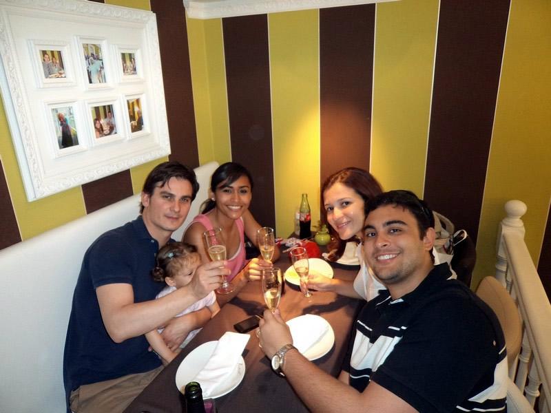 Almoço com nossos anfitriões: Jordi, Laia e Suzy