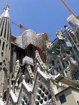 Obras na Sagrada Família