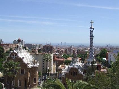 Vista de Barcelona do Park Güell