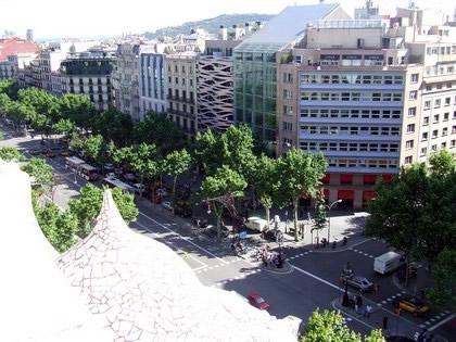 Vista da Passeig de Gràcia da Casa Milá