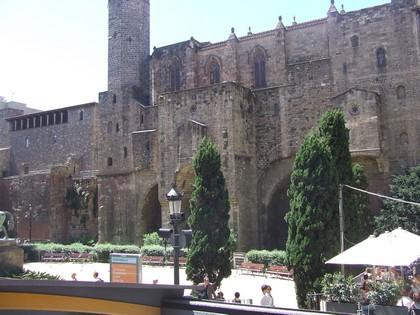 Ruínas das antigas muralhas de Barcelona