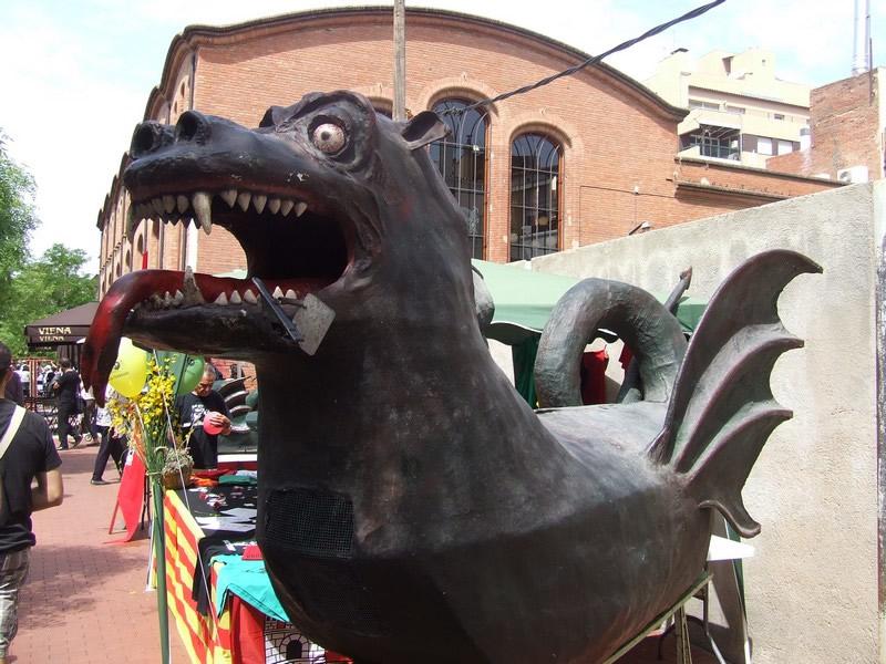 O dragão é um símbolo frequente nas festas catalãs