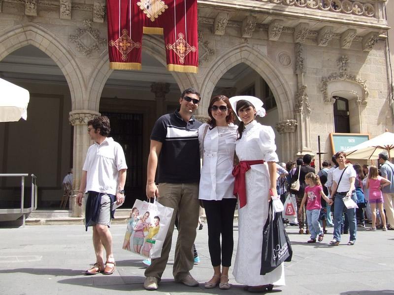 Pausa para foto com os turistas!