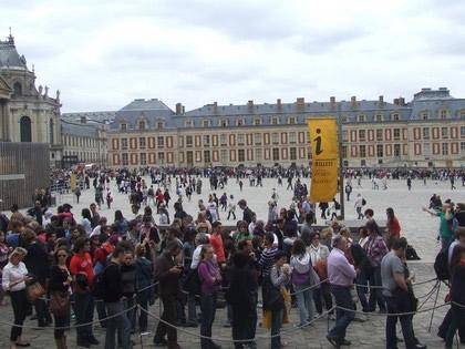 Filas para visitar o Palácio