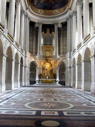 Interior do Palácio de Versailles
