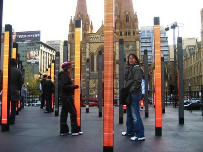 Mostra dos Movimentos com as Luzes na Federation Square