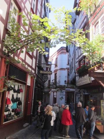 Videiras nas ruas de Bernkastel