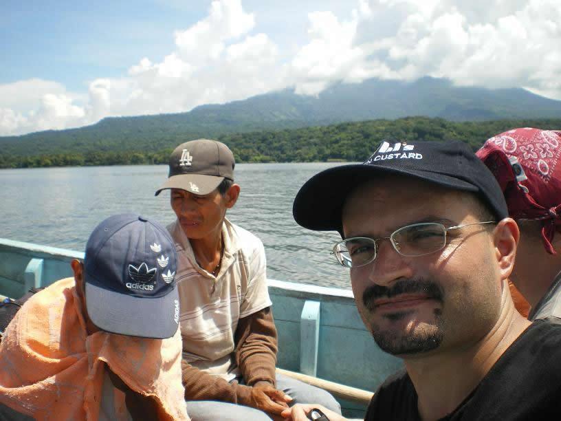 Na lancha comunitária a caminho da Isla Zapatera