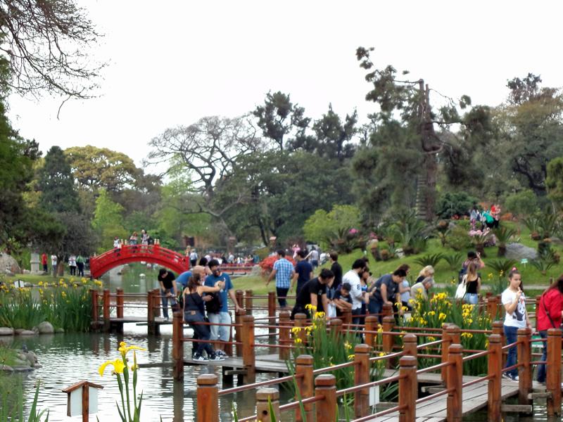 O jardim foi um presente da comunidade japonesa a Buenos Aires