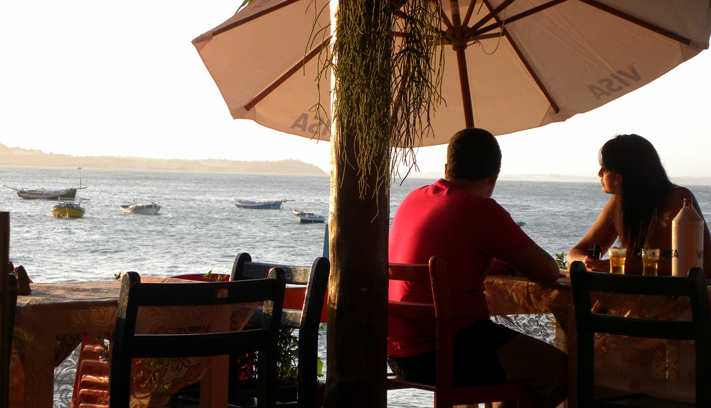 A linda vista do Restaurante Caxangá, em Pipa