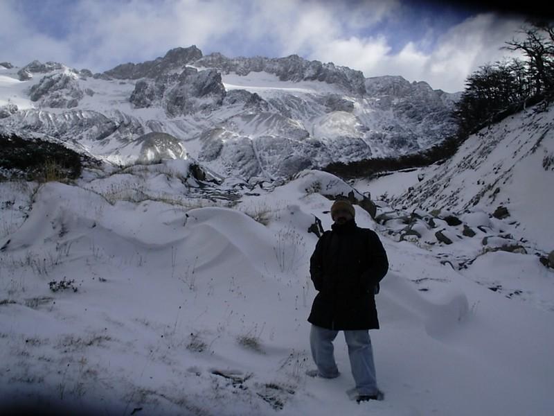 Rumo ao Glaciar Martial, nos Andes da Terra do Fogo