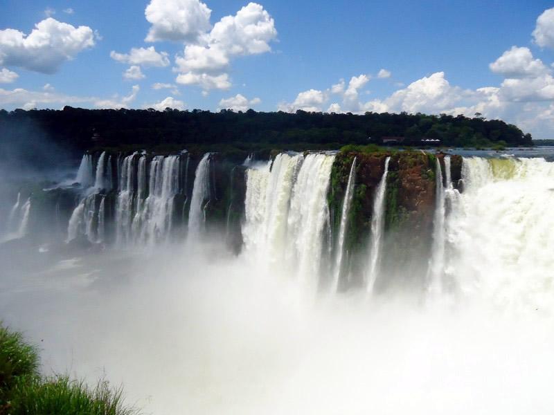 Quedas d'água do lado argentino