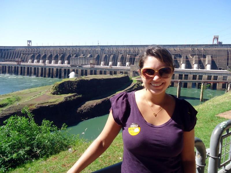 Mariana na Hidrelétrica de Itaipu
