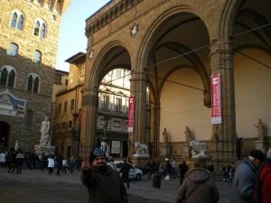 Loggia dei Lanzi, Piazza della Signoria, Florença - Primeiro de janeiro de 2012