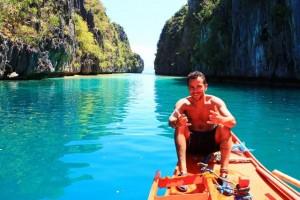 Guilherme em El Nido, Filipinas