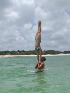 Leti e Roi na Lagoa do Carcará, RN