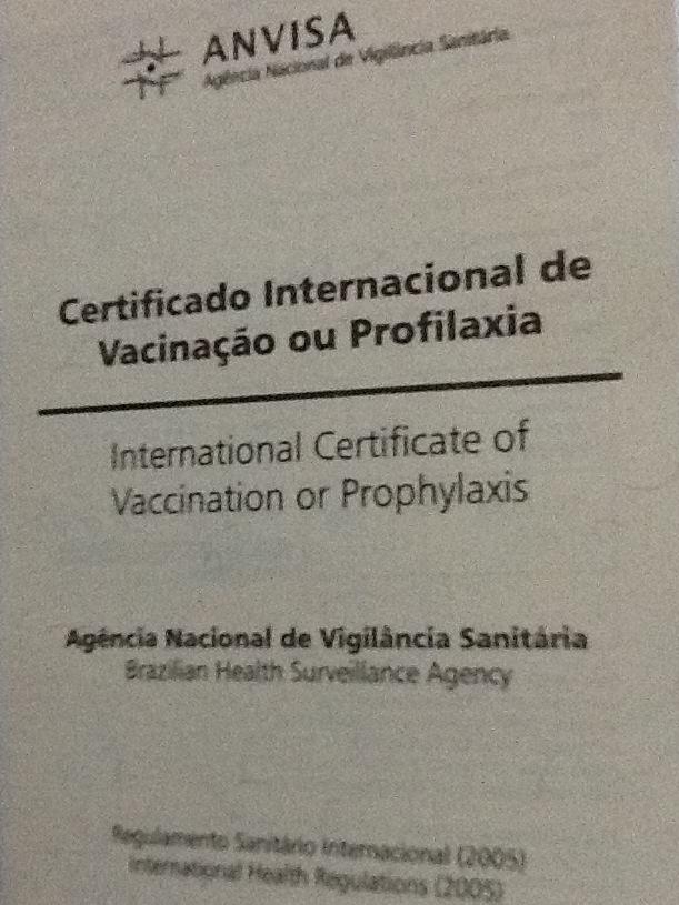 Certificado Internacional de Vacinação é gratuito e deve ser pego na Anvisa após vacinação