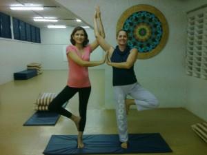 A prática de yoga tem me ajudado a me manter calma