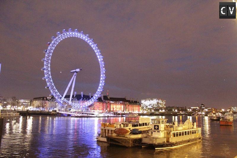 London Eye iluminada