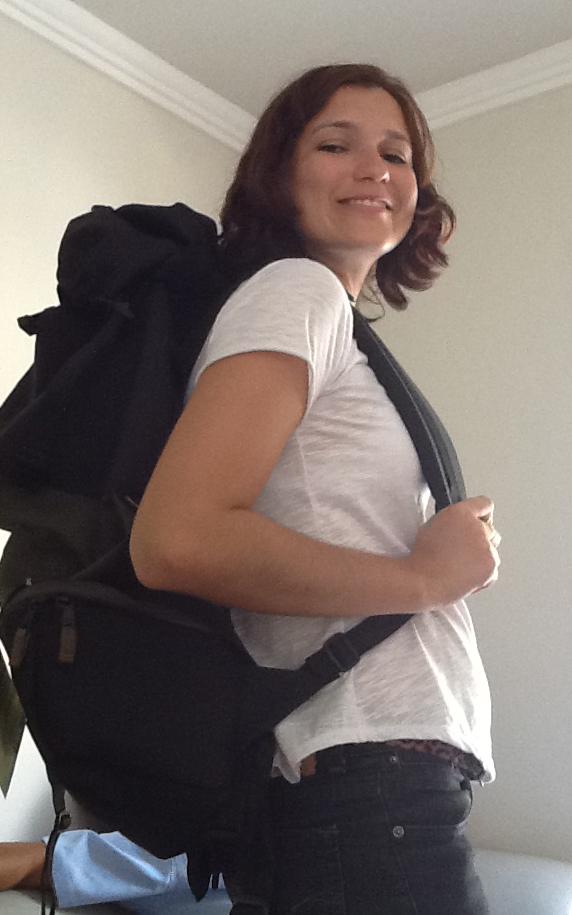 Esse sorriso aí, foi quando a mochila estava vazia! :)