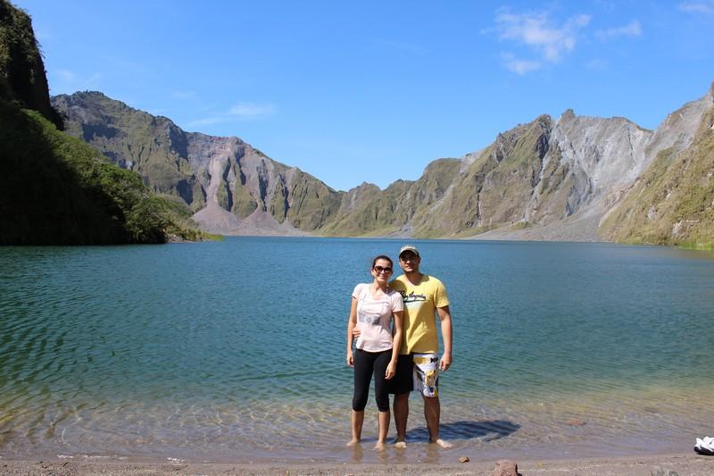 Na cratera do Mt Pinatubo
