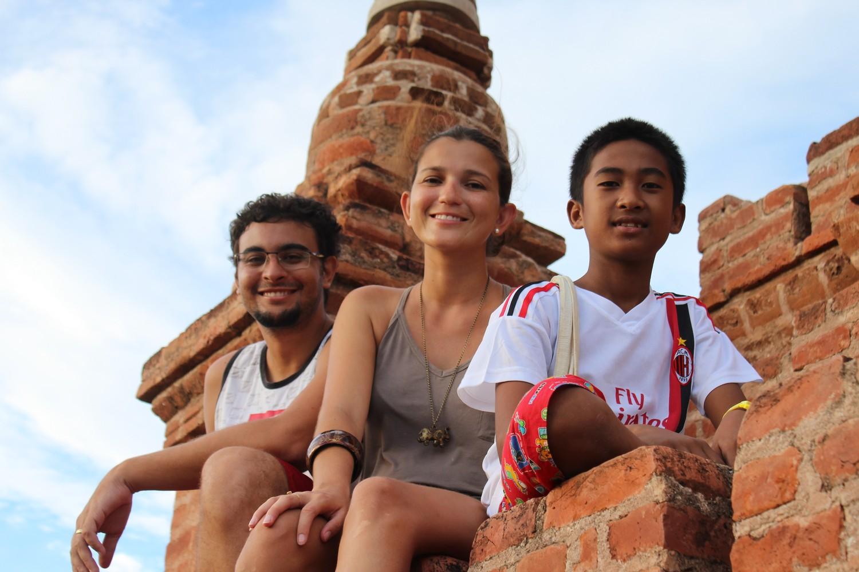Com nosso amiguinho Komin, em Bagan