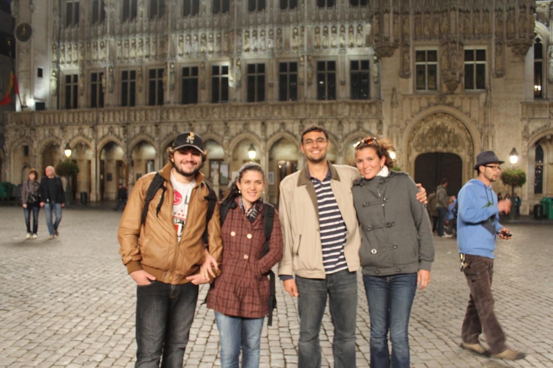 Com Leonardo e Vanessa em Bruxelas