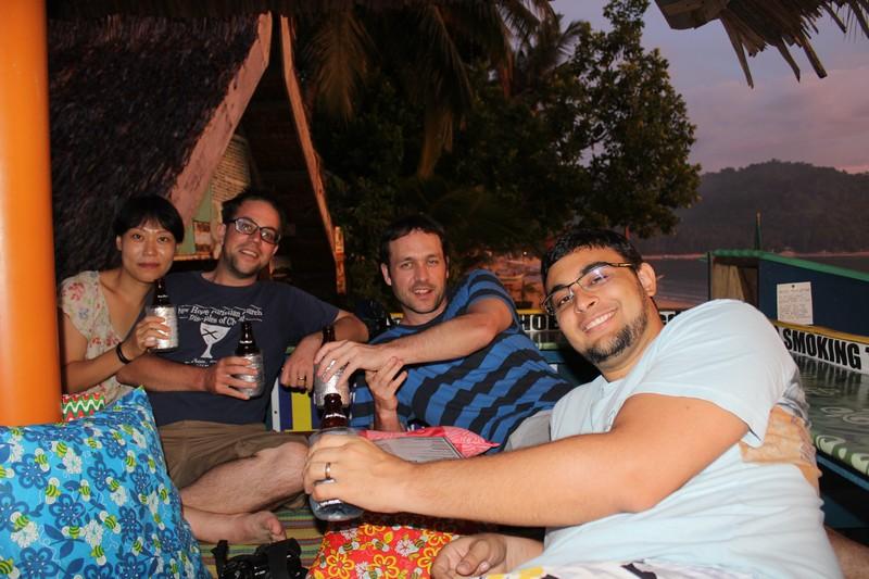 Com Jim, Jeremy, Blair e Fred