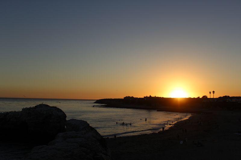 Pôr do sol em Santa Cruz