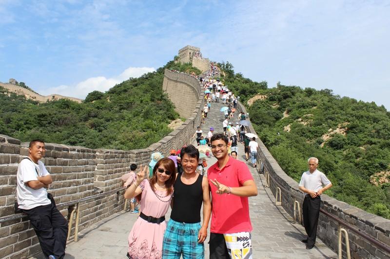 Chineses pediram para fazer uma foto com Fred, pelo menos essa dá para saber onde foi tirada