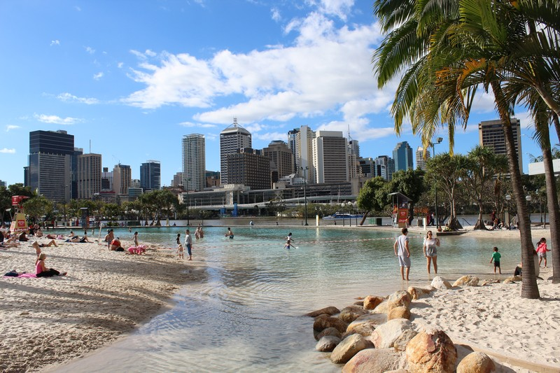 Praia artificial de Brisbane