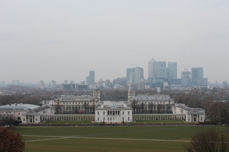 Panorâmica de Greenwich e Londres
