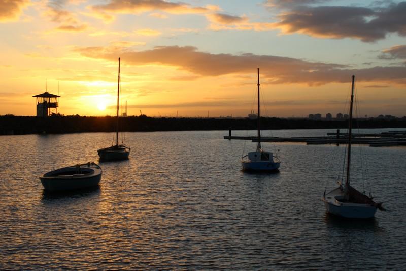Pôr do sol em St Kilda