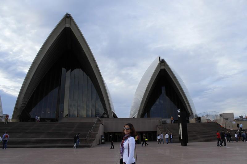 Sydney Opera House vista de perto