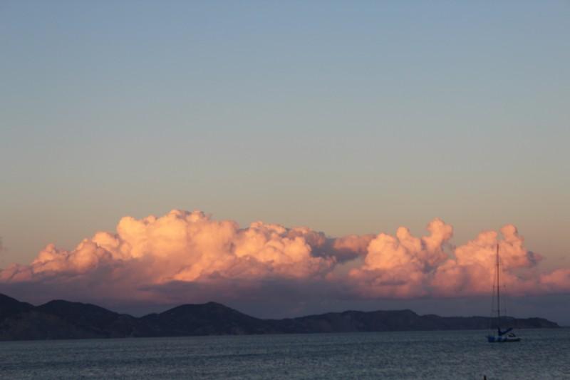 Pôr do sol em Keri Beach